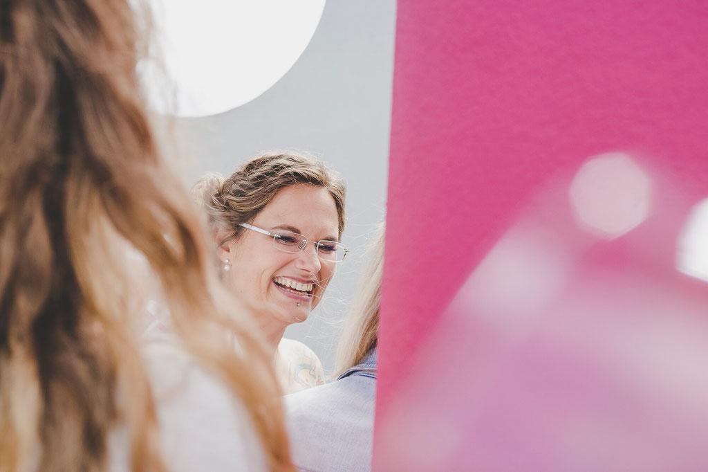 Braut nach der Trauung