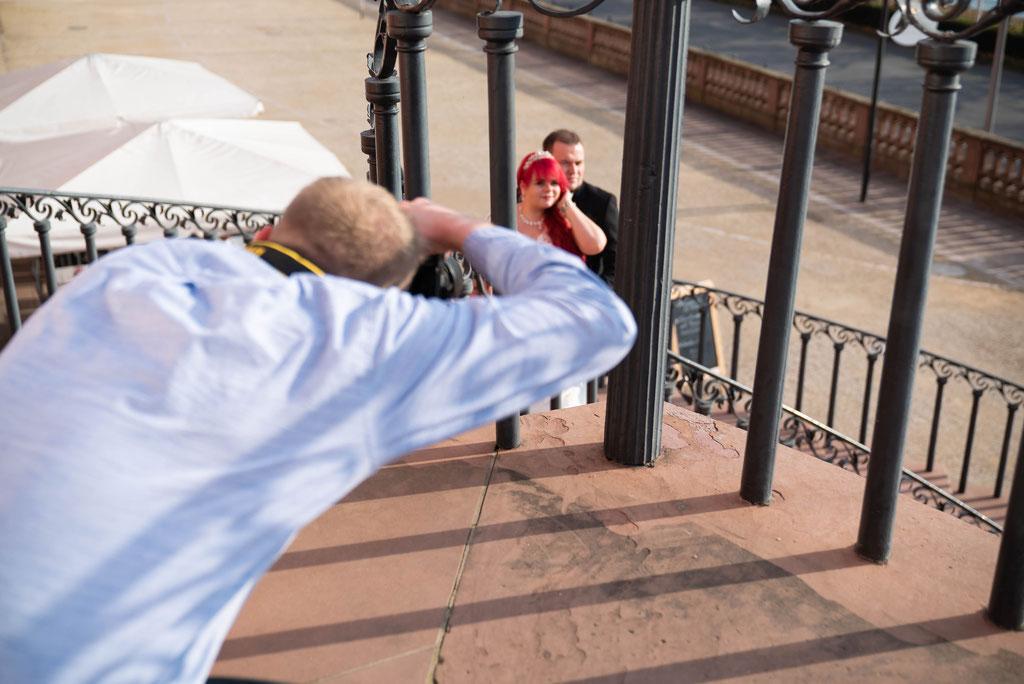 Fotografieren von Brautpaaren aus einer ungewöhnlicher Perspektive