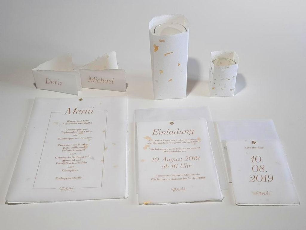 Hochzeitspapeterie Design GOLD