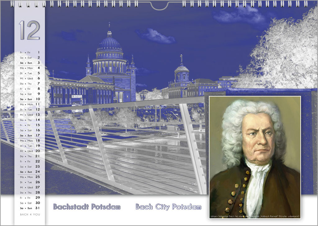 A Bach Cities / Bach Locations / Bach Places Calendar ... Bach Calendars Are Music Calendars and Music Gifts.