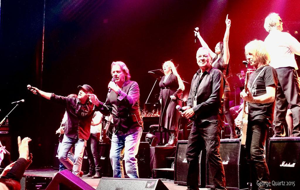 "from left: Marc Storace (Krokus), John Wetton (Asia), Ian Gillan (Deep Purple), Rick Parfitt (Status Quo) - ""Rock meets Classic"" 2015"