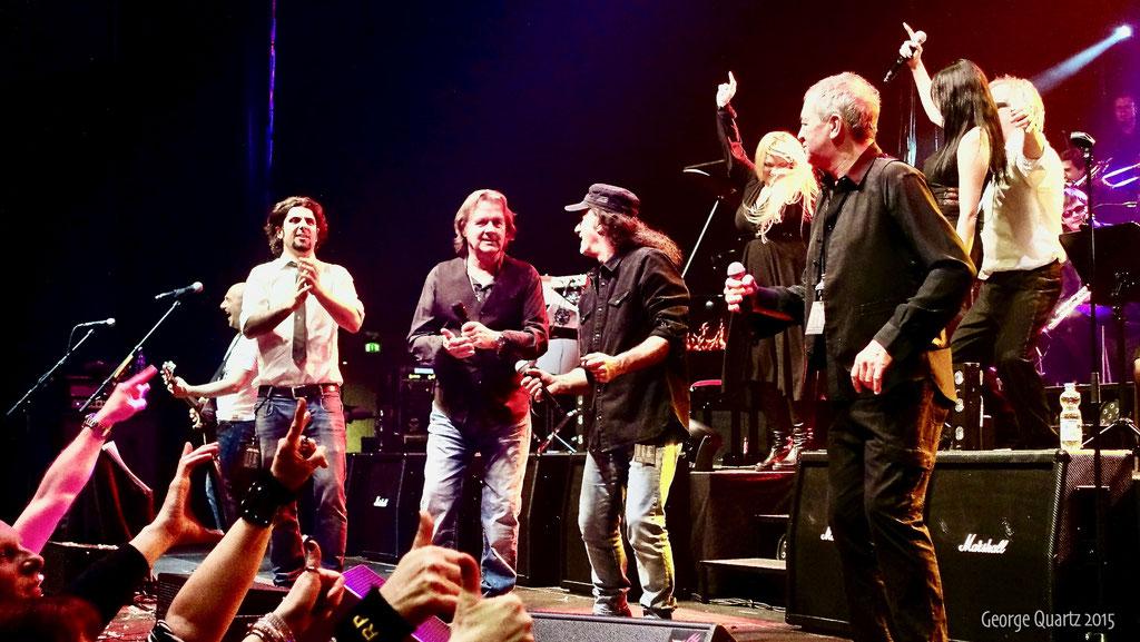 from left:  John Wetton (Asia),Marc Storace (Krokus), Ian Gillan (Deep Purple)