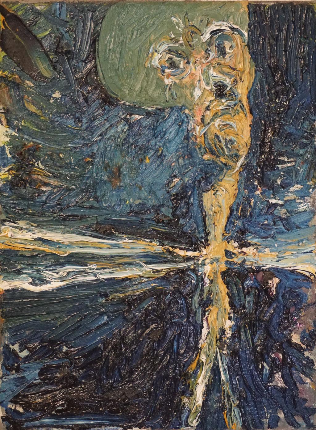 G048 - Öl auf Leinwand - 24 x 18 cm.