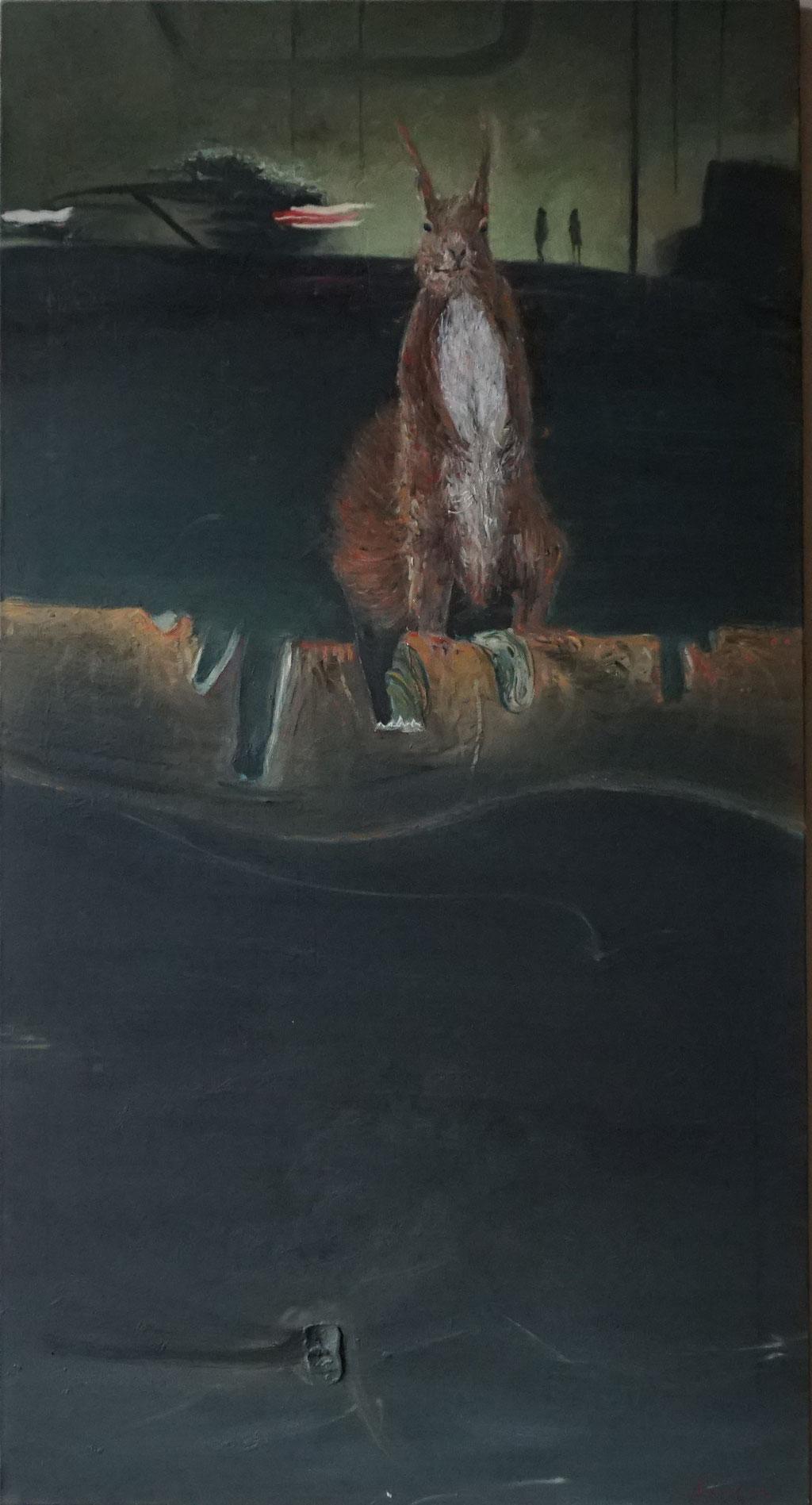 G036 - Öl auf Leinwand, 140 x 75 cm.