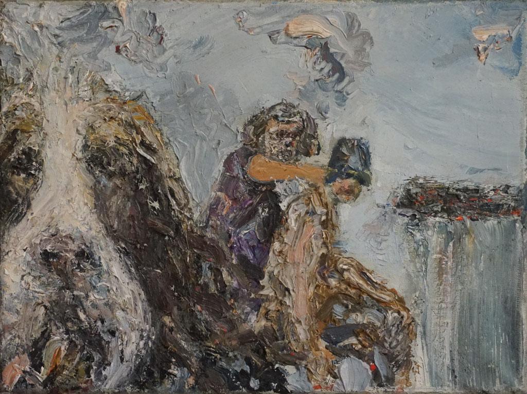 G047 - Öl auf Leinwand - 24 x 18 cm.
