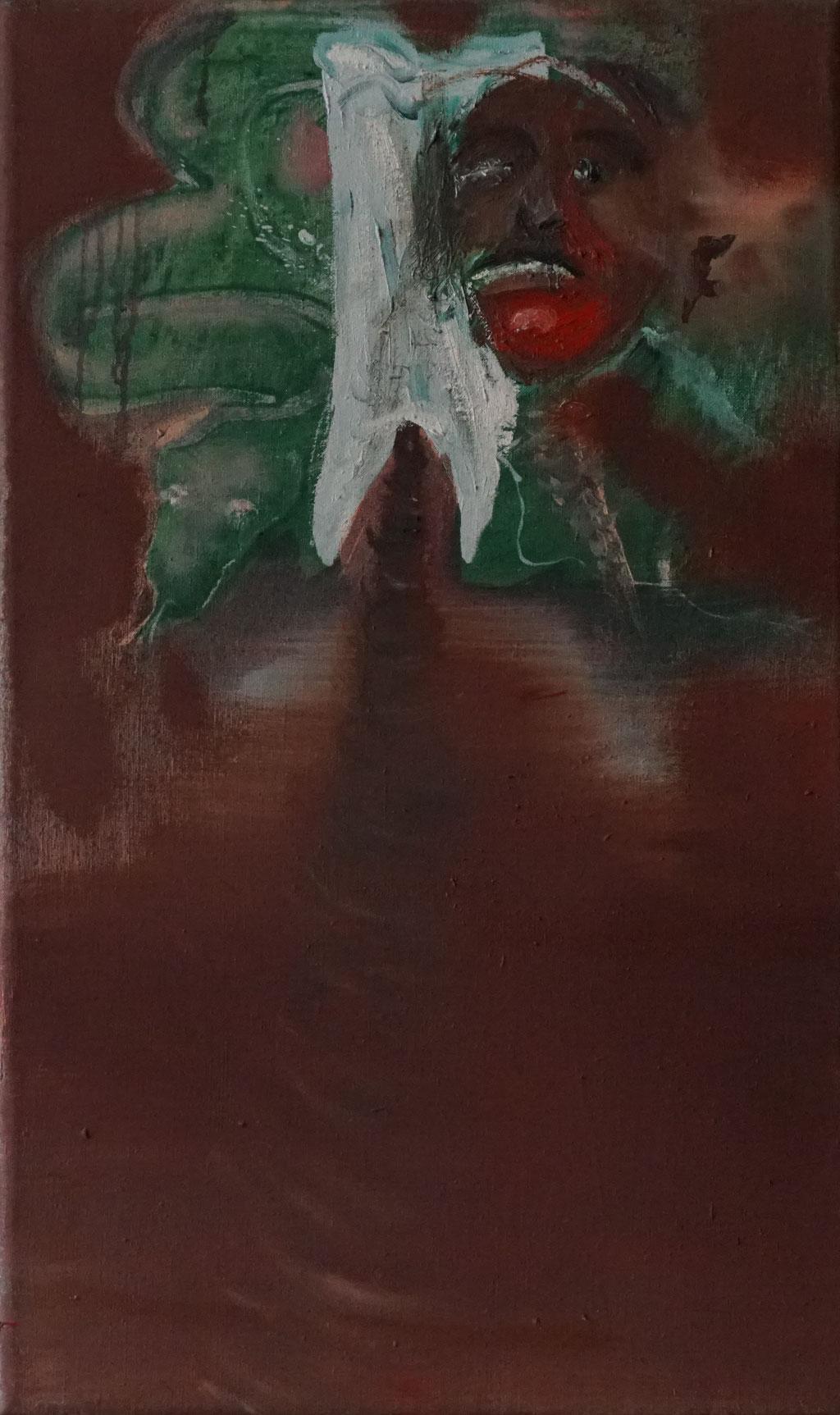 G043 - Öl auf Leinwand - 55 x 35 cm.