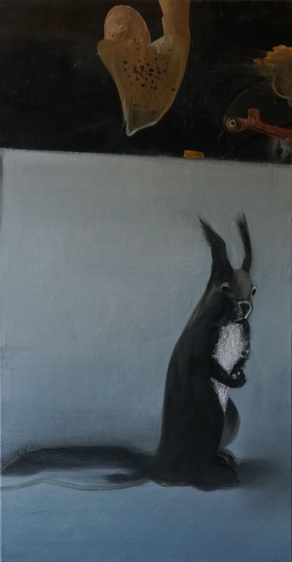 G019 - Öl auf Leinwand - 140 x 73 cm.
