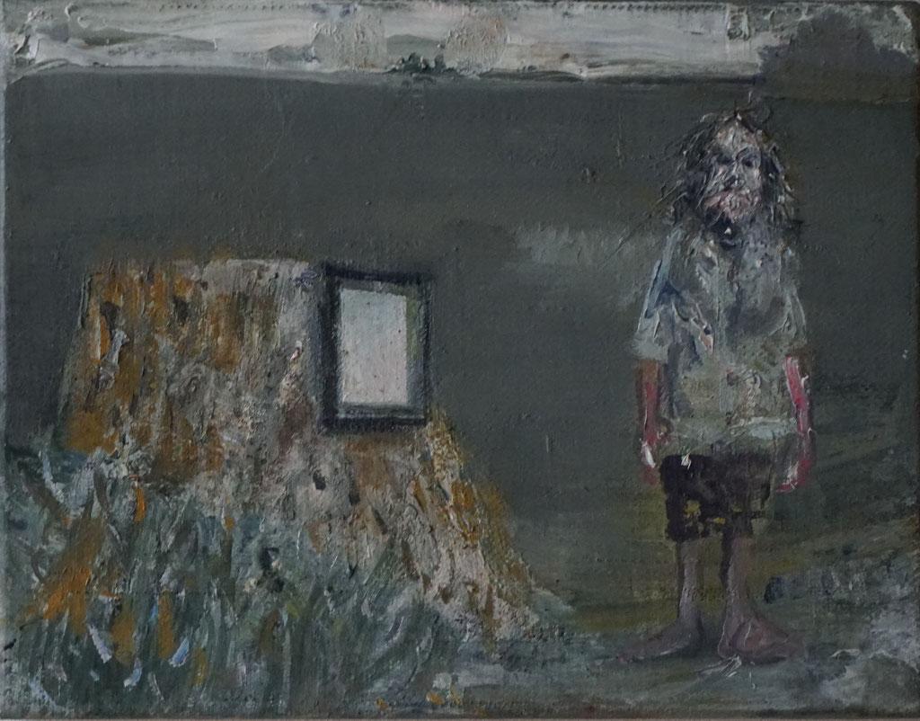 G042 - Öl auf Leinwand - 27 x 35.5 cm.