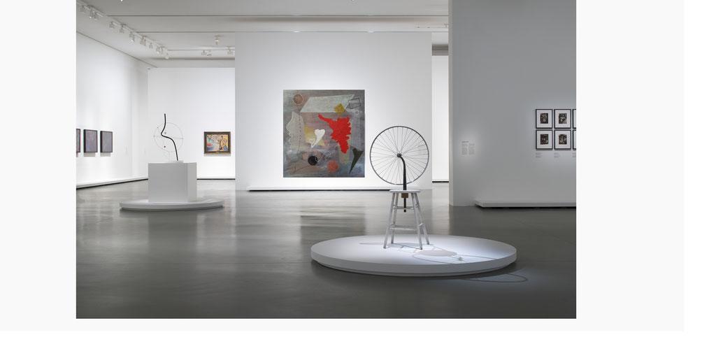 Rosso relativo - tecnica mista su tela 188x170 (2019)  opera di Francesco Cannone in ambiente virtuale