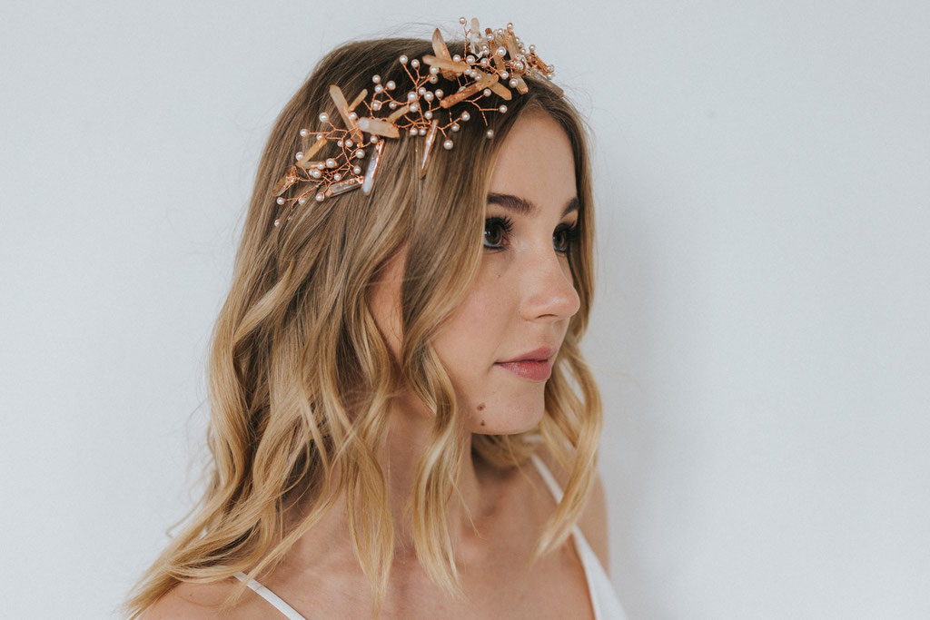 Headpiece Batari rosegold/peach -Photo by Wolken mit i