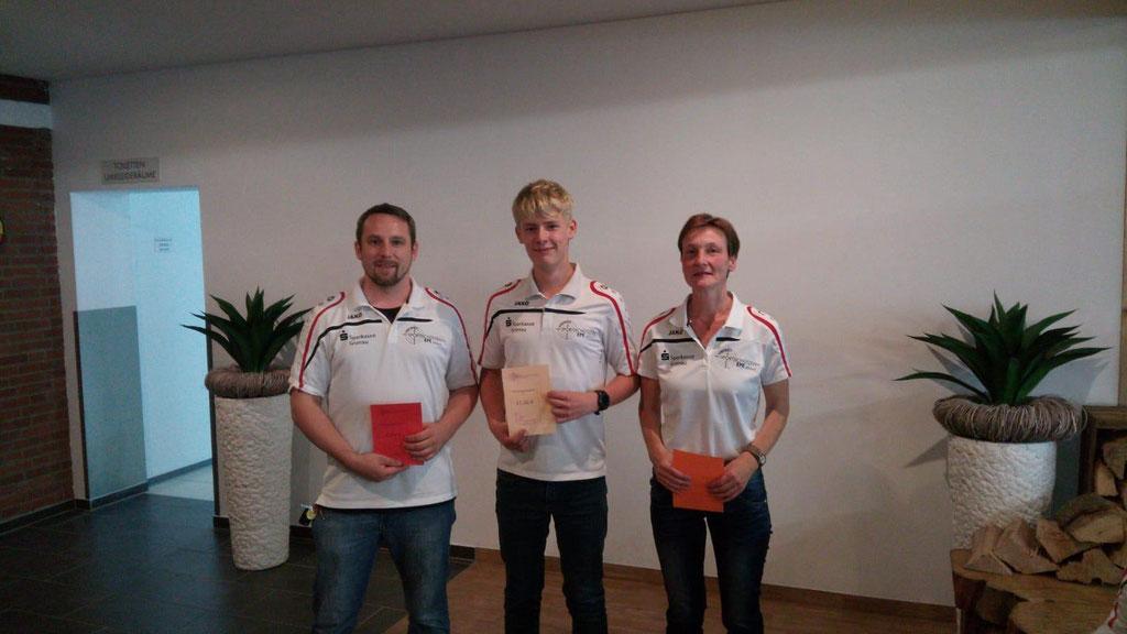 Platz 1-3 Sieger Recurve/Blank v.l.n.r. Sven Weyck, Mats Enkrodt, Walle Steven