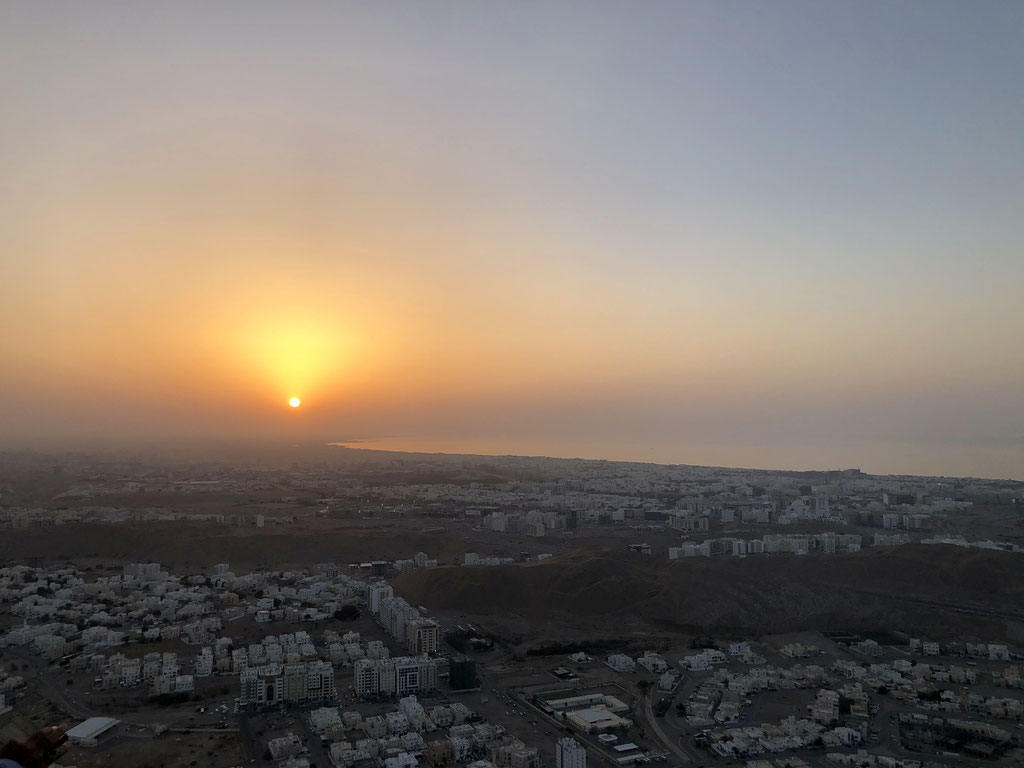 Sunset over Muscat