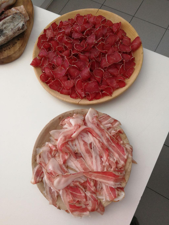 Degustazione presso il Rifugio Sandro Occhi all'Aviolo