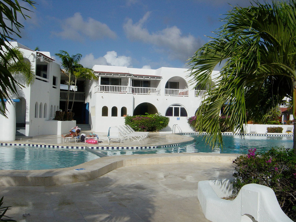 Alter Hotelkomplex des Jolly Beach Resort