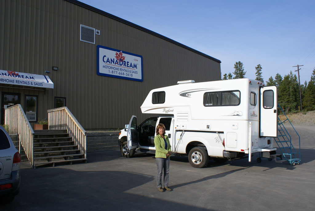 Fahrzeugabgabe in Whitehorse Canada