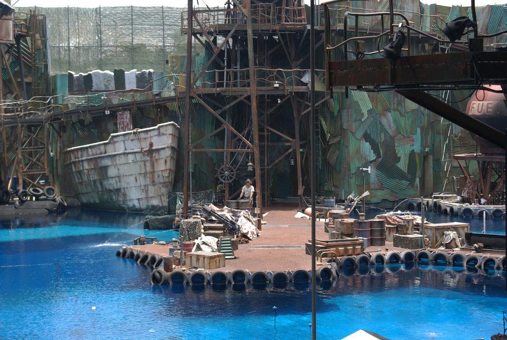 Stuntshow im Waterworld Sektor