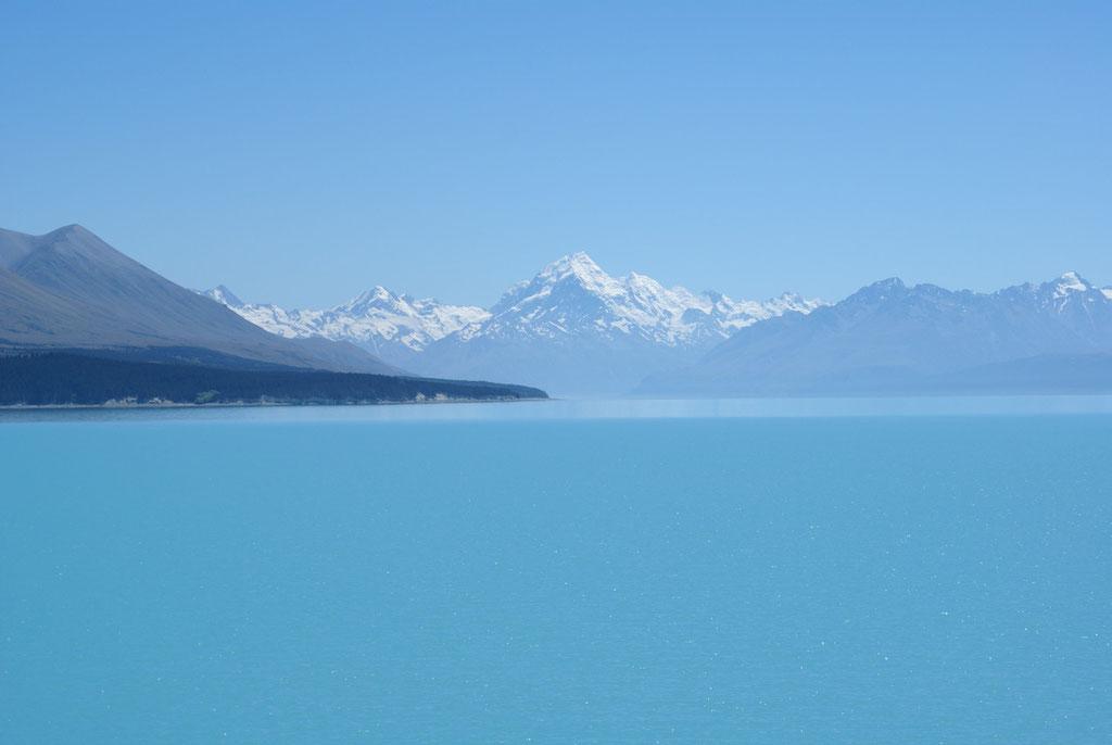 Lake Tepako mit Mt. Cook im Hintergrund