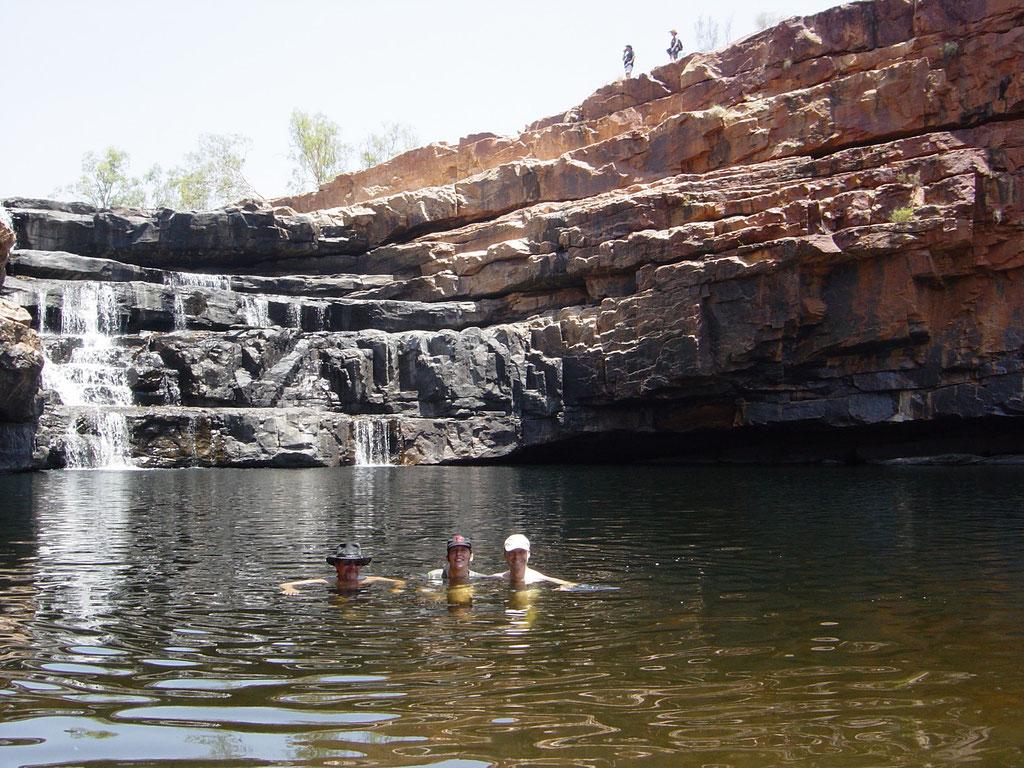 Nur wir und ein paar Süsswasser Krokodile