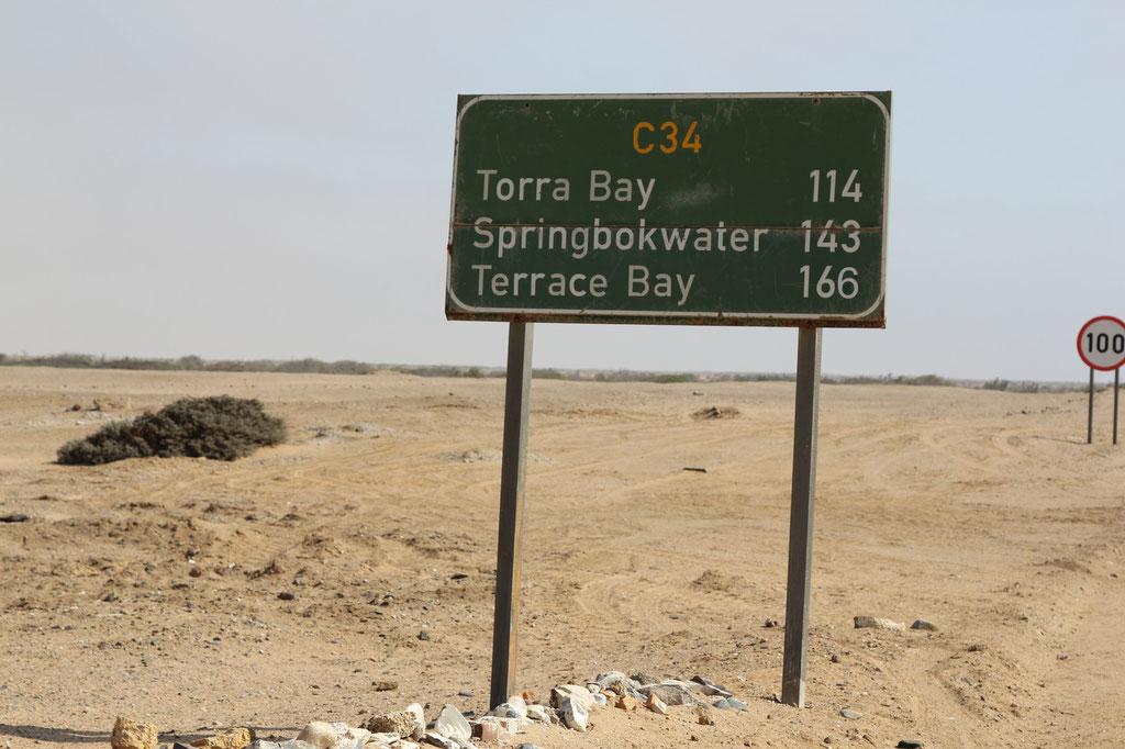 Unser nächstes Ziel ist Springbokwater