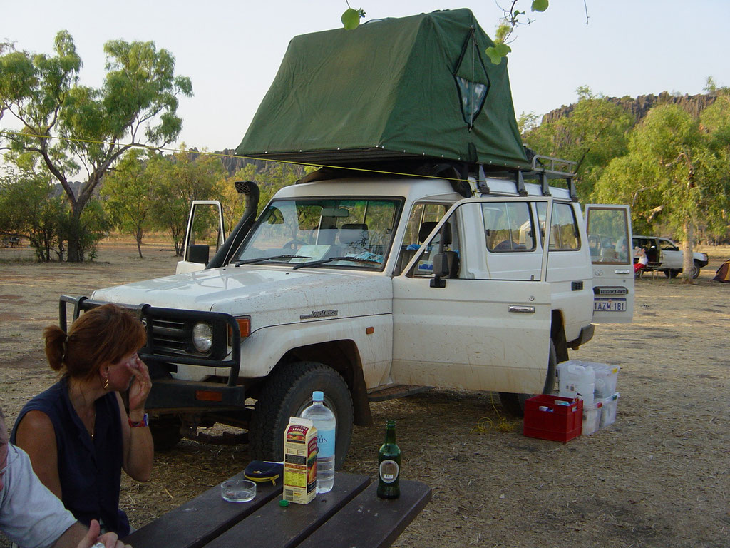 Campground in der Windjana Gorges
