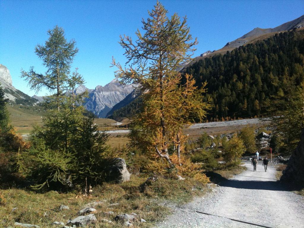 Wanderweg nach Sunnbuel