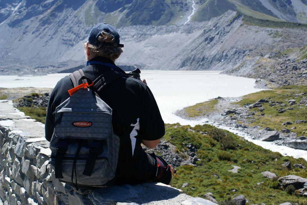 Hooker Valley Track am Gletschersee