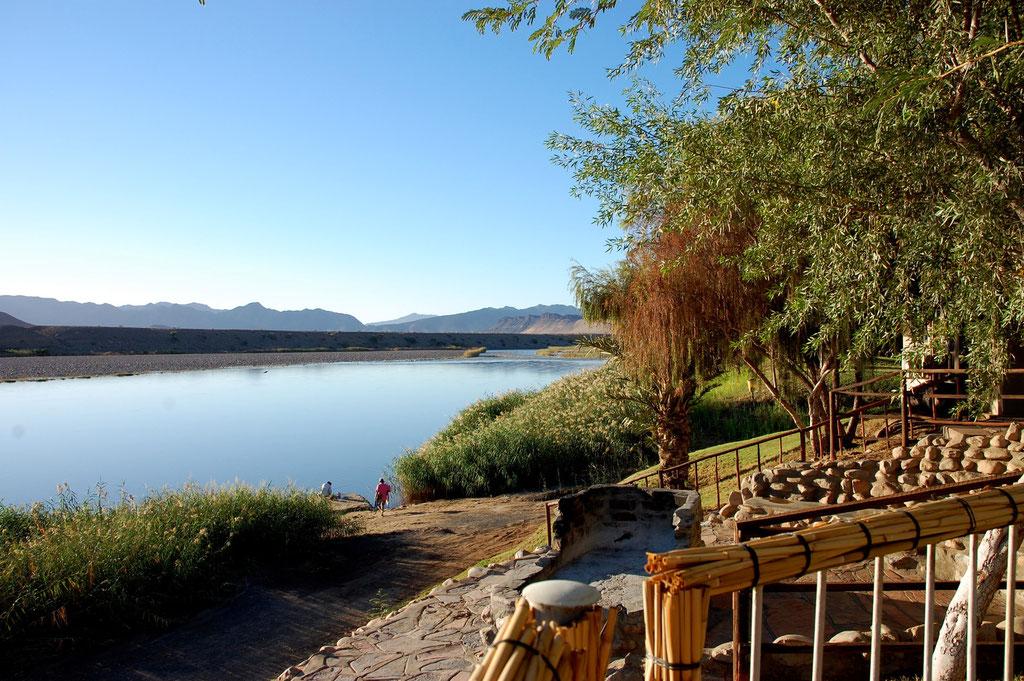 Oranje River und Grenzfluss zu Südafrika
