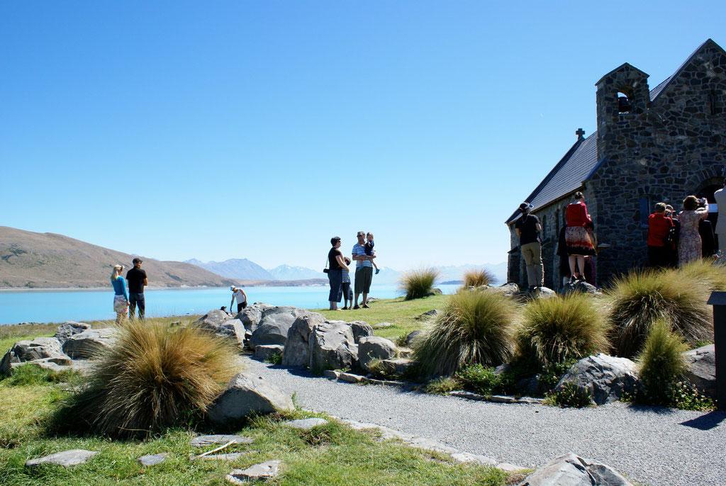 Lake Tekapo mit Mt. Cook im Hintergrund