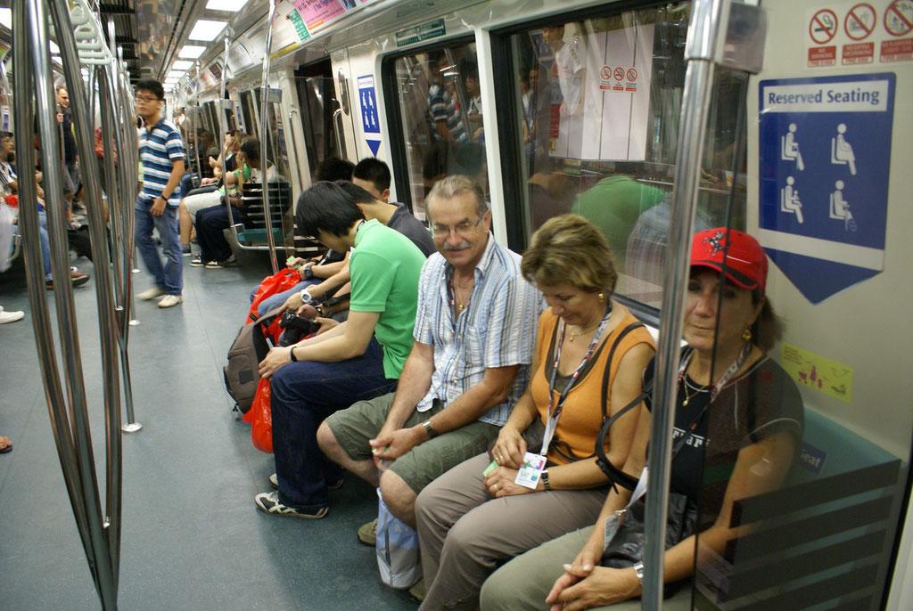 Mit der U- Bahn gehts direckt an die Rennstrecke.