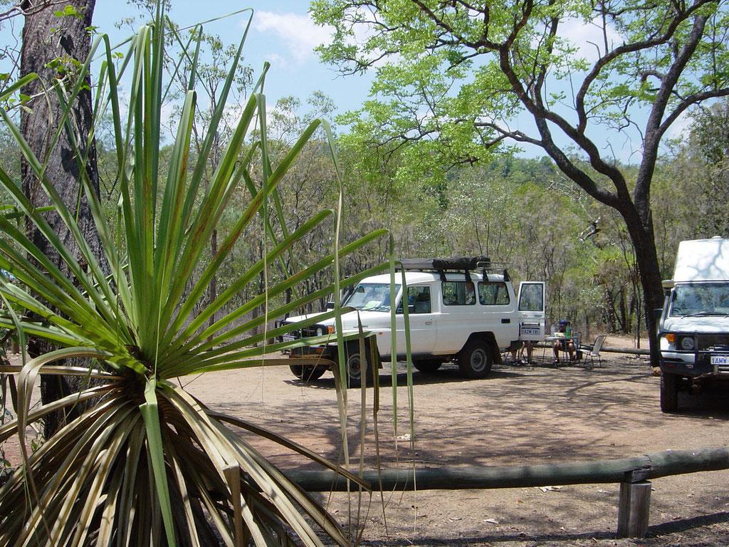 Aufenthalt im Campground Wangi Falls