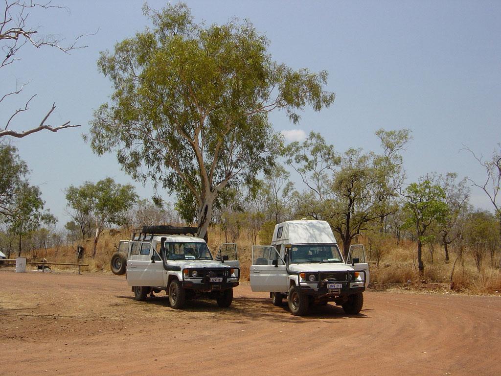 Mittagspause im Outback unterwegs nach Kununurra