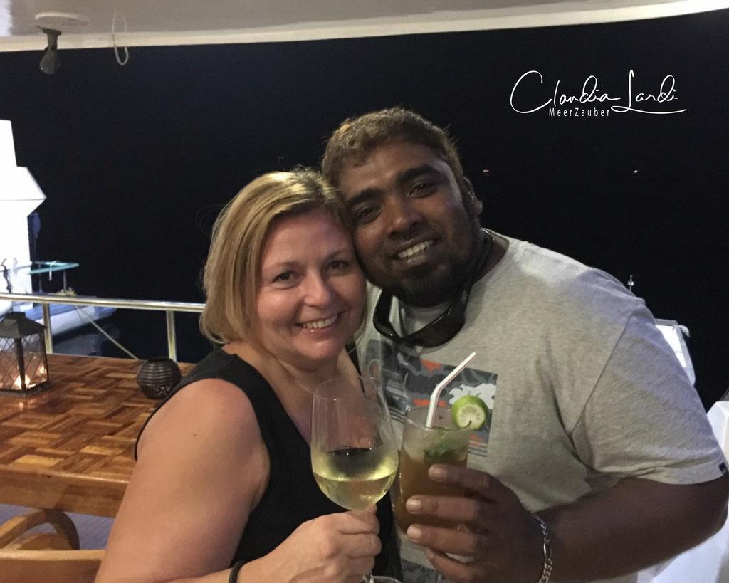 Zinah Mohamed, Malediven  Lustigster Schweizerdeutsch sprechender Diveguide, Tauchsafari Horizon III, danke Zinah für die luschtigi Ziit mit dir..küss den Ring