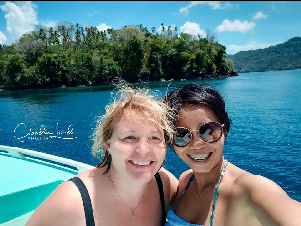 Minah Budau, Froggies Lembeh, Tauchguide, Managerin Froggies, thank you for the great time, we had such good fun
