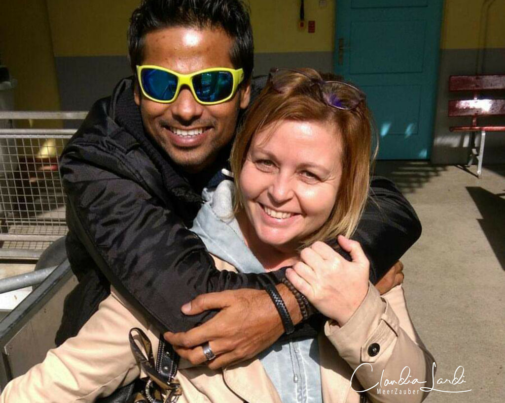 Weeshan Ismail, Malediven, Tauchlehrer, Tauchguide und Freund unserer Familie, thanks for everything my heart-friend