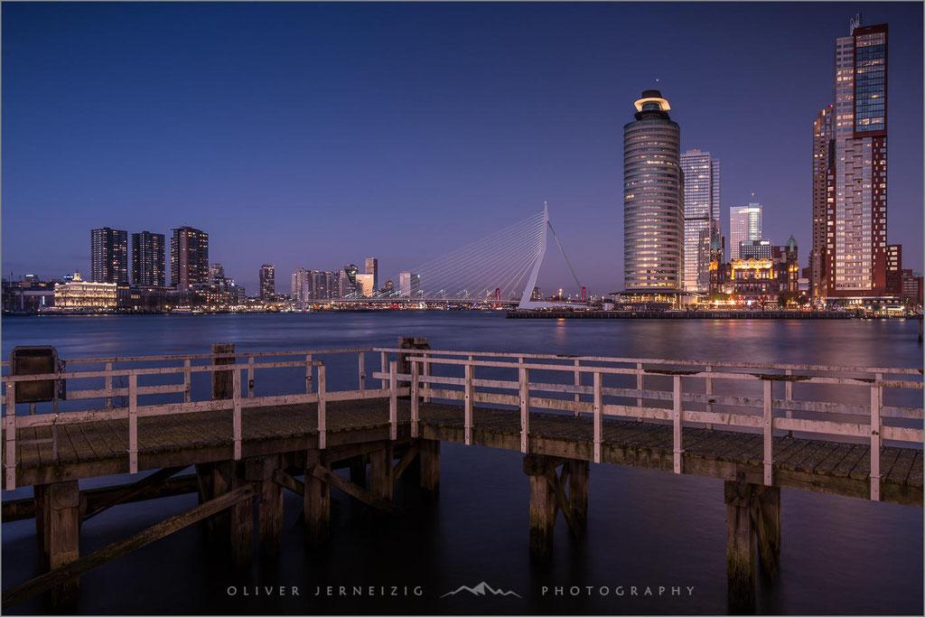 Hafen, Harbour, Erasmusbrug, Rotterdam, Niederlande, Netherland  © Oliver Jerneizig