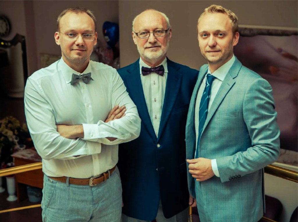 Борис Викторович Родионов с сыновьями — Ильёй и Алексеем