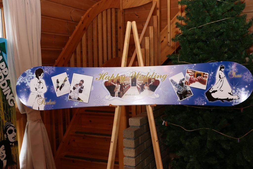 ウェルカムボード スノーボード 作例36