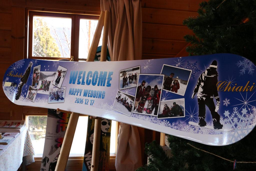 ウェルカムボード スノーボード 作例34