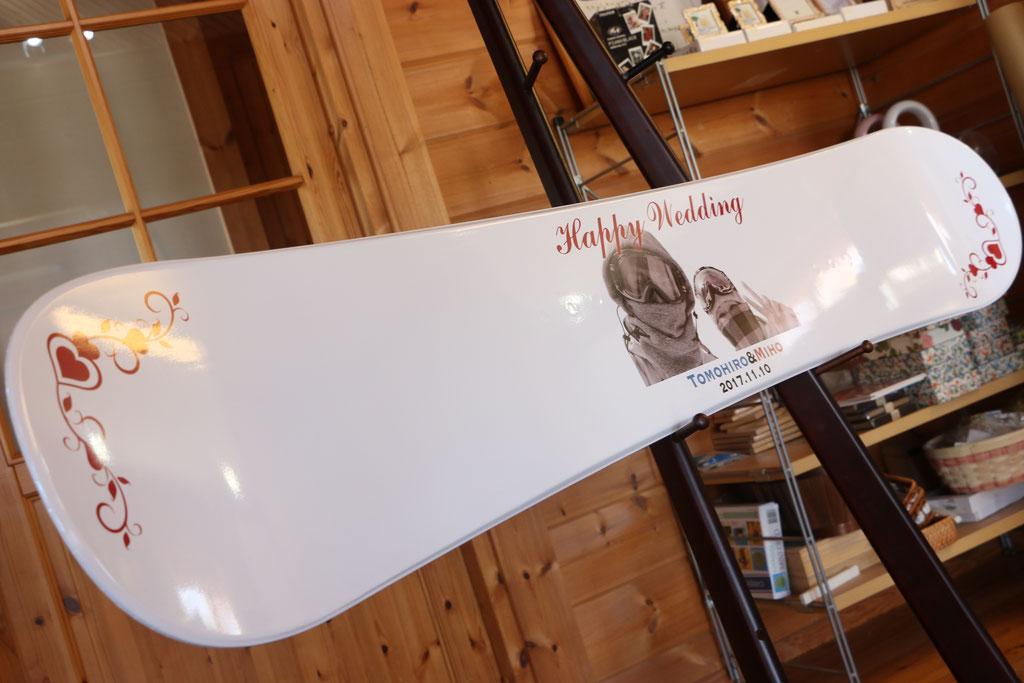 ウェルカムボード スノーボード 作例