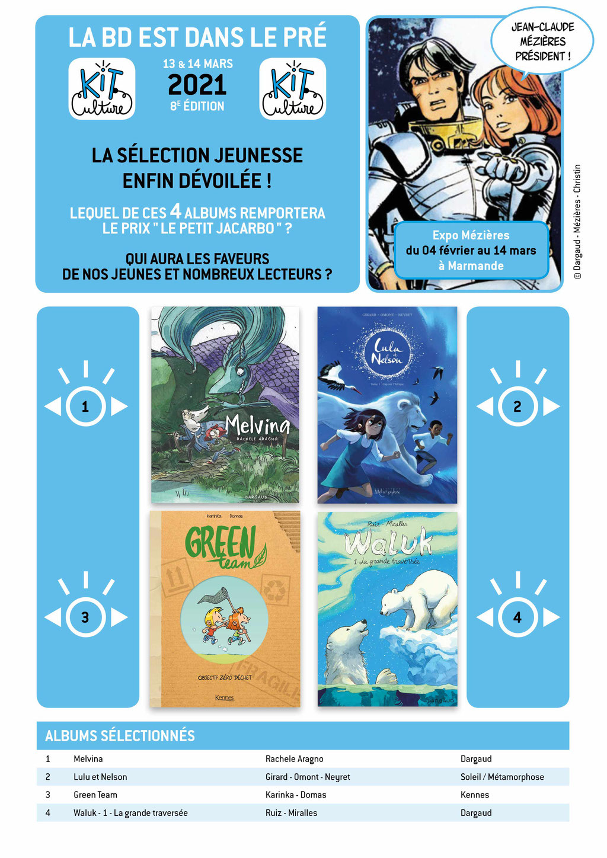 La sélection du prix Le Petit Jacarbo 2021