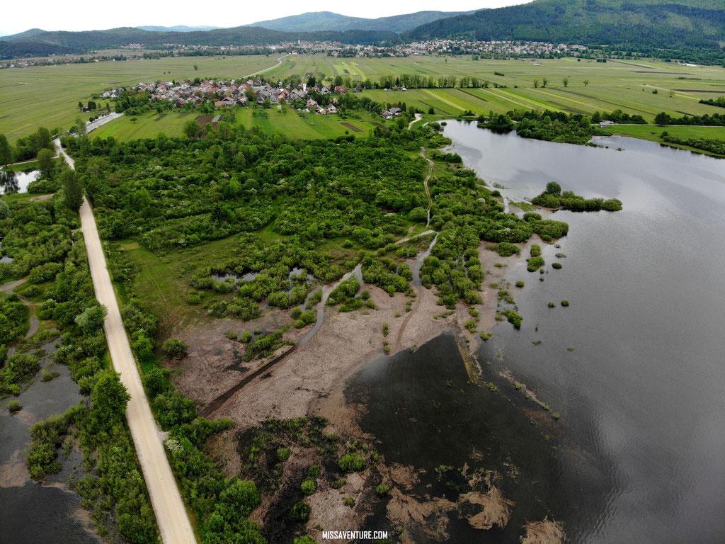 Le lac de Cerknica.