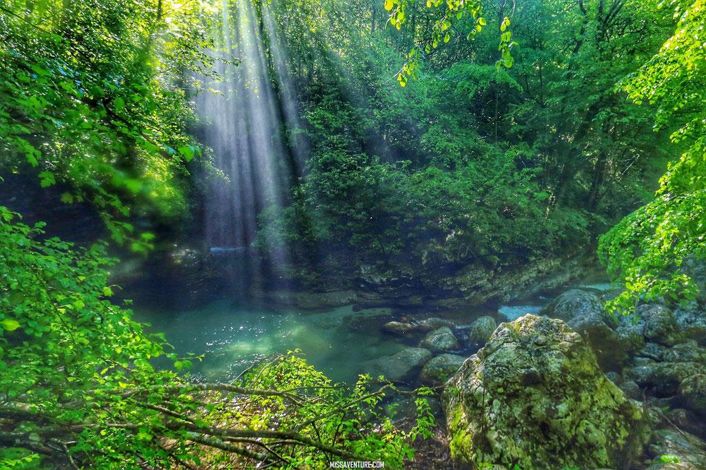Sentier de la cascade Kozjack.