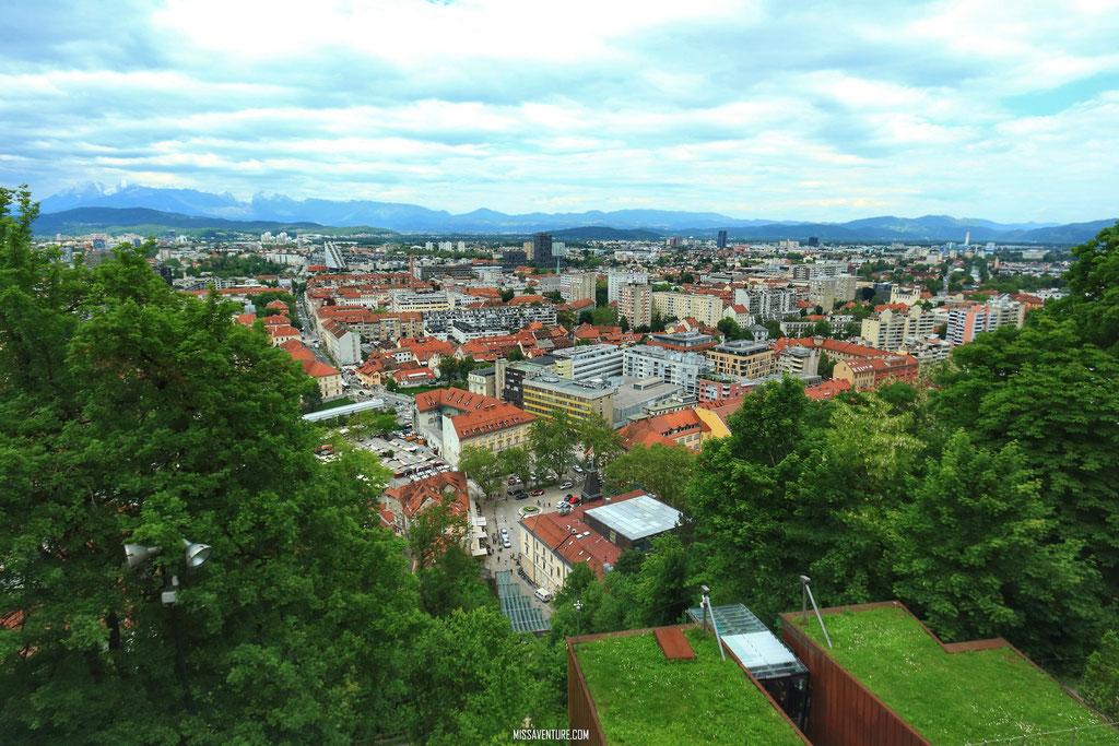 La vue du château de Ljubljana.