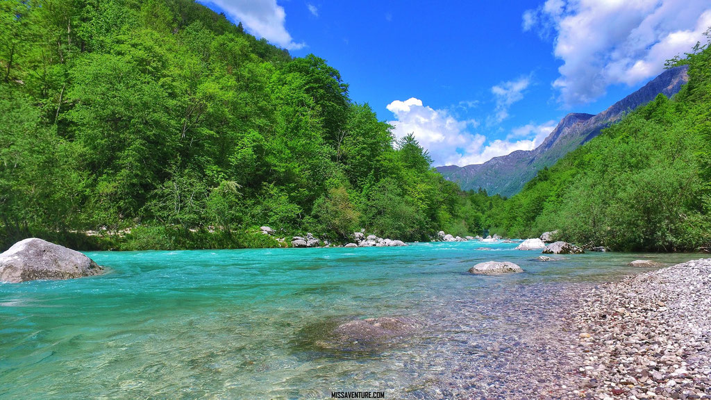 La rivière Soca.
