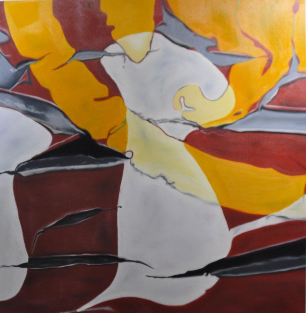 jong, oil on canvas, 130 x 125 cm, 2017