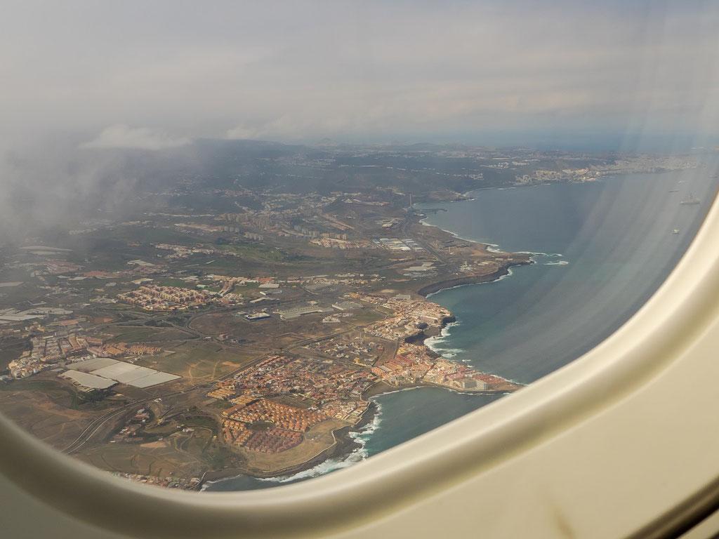 Kurz nach dem Start - Blick auf La Garita - da bin ich vier mal hin gefahren um dann endlich El Bufadero aufs Bild zu bekommen.