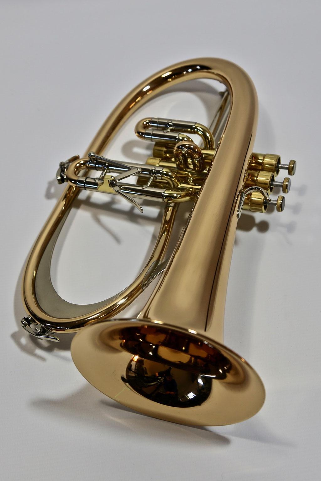 Jazzflügelhorn, lackiert mit Mond