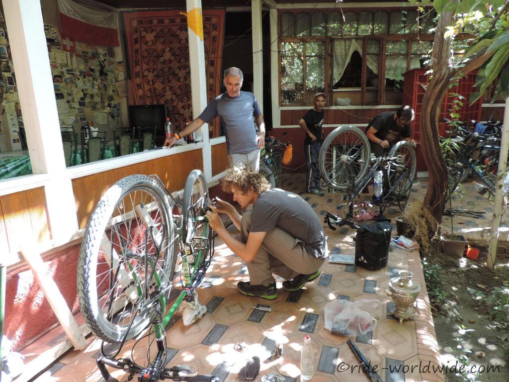 Fahrradreparaturwerkstatt