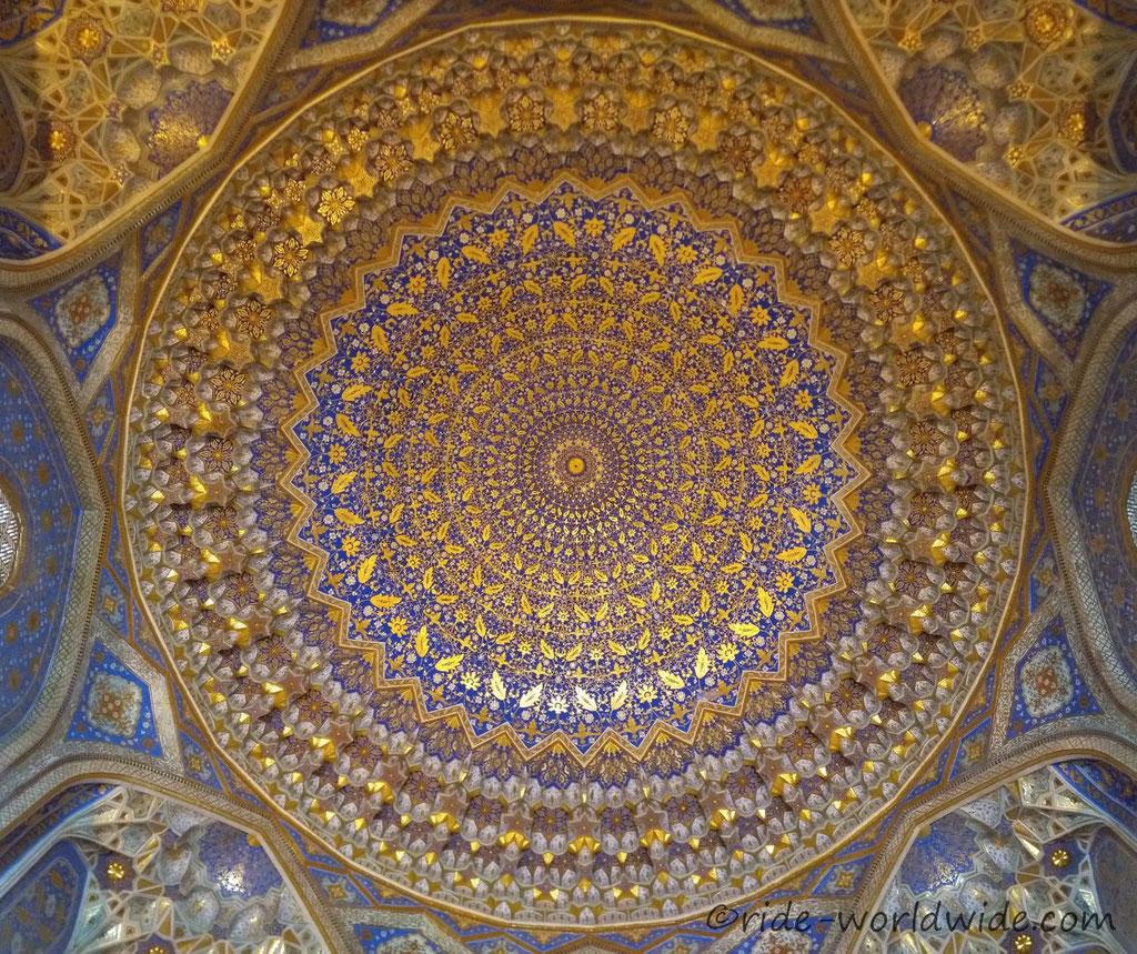 Tilla-Kari Mosque in Samarkand.