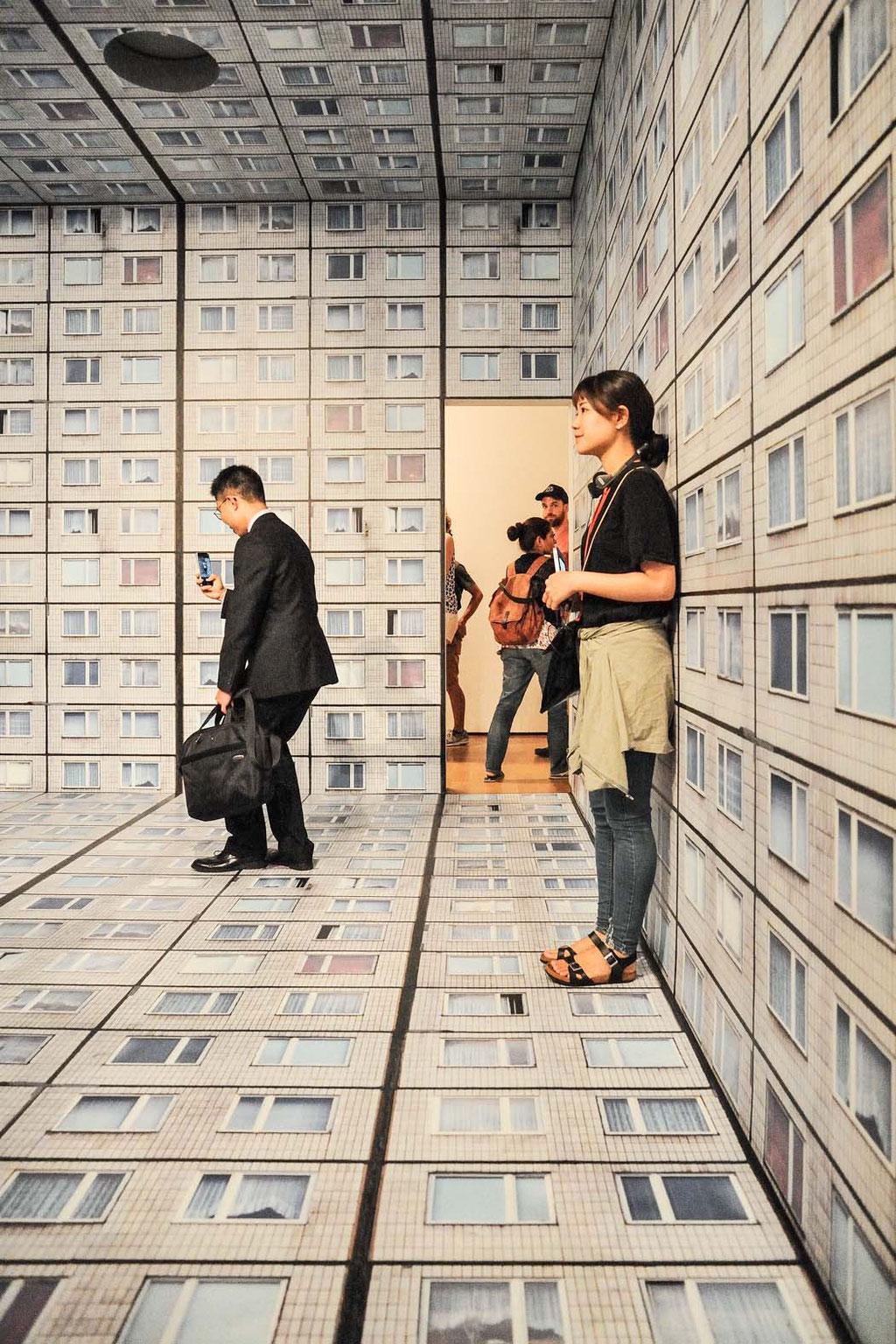 "Installation ""Virtual Interior"" (Annett Zinsmeister), 2015,  Museum of Modern Art, New York City (USA)"